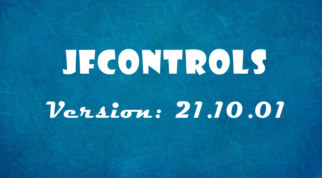 JfControls 21.10.01 released